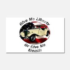 MG TD Car Magnet 20 x 12