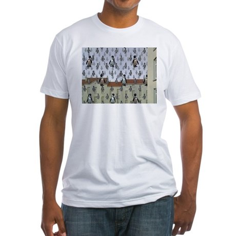 Raining Penguins Fitted T-Shirt