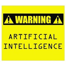 WARNING: Artificial Intelligence n Framed Print