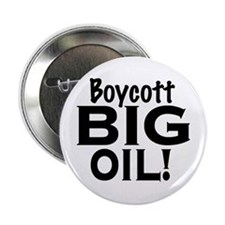 Boycott Big Oil Button