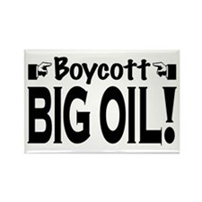 Boycott Big Oil Rectangle Magnet