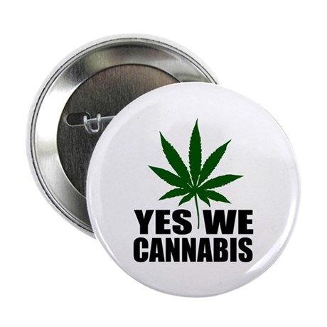"""Yes we cannabis 2.25"""" Button (100 pack)"""