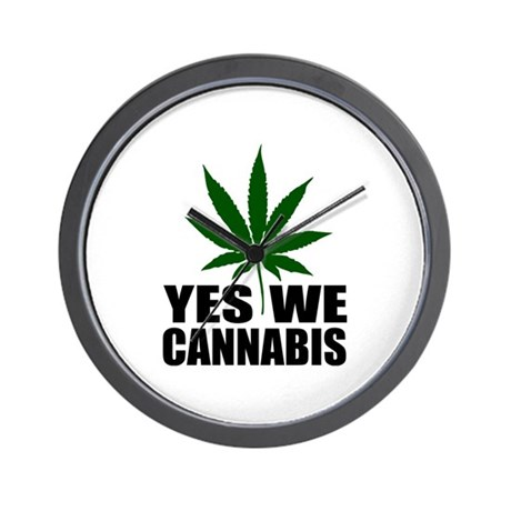 Yes we cannabis Wall Clock