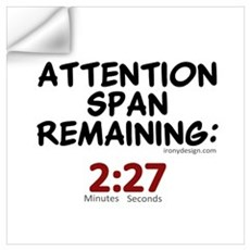 Attention Span Remaining: 2:2 Wall Decal