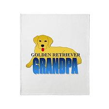 Golden Retriever Grandpa Throw Blanket