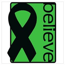 Green (Believe) Ribbon Poster