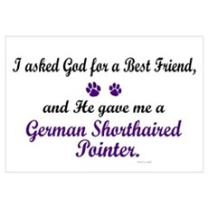 God Gave Me A German SH Pointer Framed Print