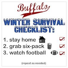 """""""Buffalo Winter Survival"""" Poster"""