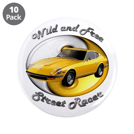 Datsun 240Z 3.5 Inch Button (10 pack)