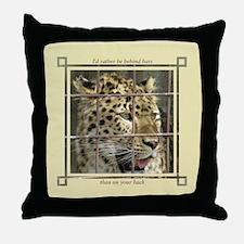 Cute Amur leopard Throw Pillow