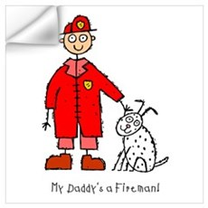 Daddy's a Fireman Wall Decal