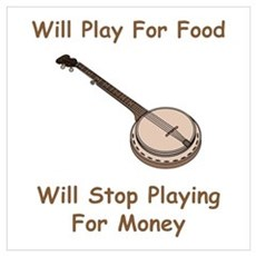 Banjo Stop Playing For Money Framed Print