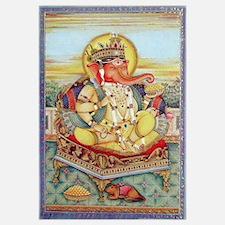Ganesh Seated on Cushion Print