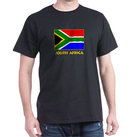 South Africa Black T-Shirt