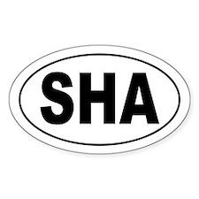 SHA Oval Decal