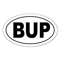 BUP Oval Decal