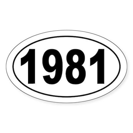 1981 Oval Sticker