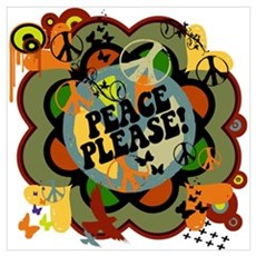 Peace Please! Anti War Graphic Framed Print