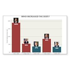 National Debt Graph Decal