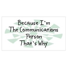 Because Communications Person Poster