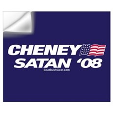 """Cheney-Satan '08"" Wall Decal"