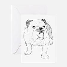 Bulldog Drawing Greeting Card