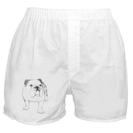Bulldog Drawing Boxer Shorts