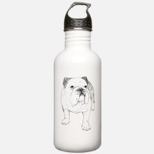 Bulldog Drawing Water Bottle