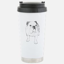 Bulldog Drawing Stainless Steel Travel Mug