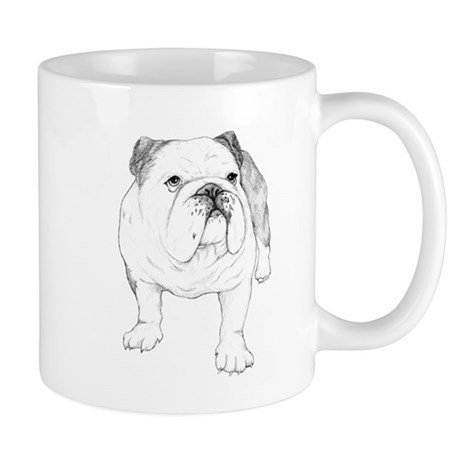 Bulldog Drawing Mug