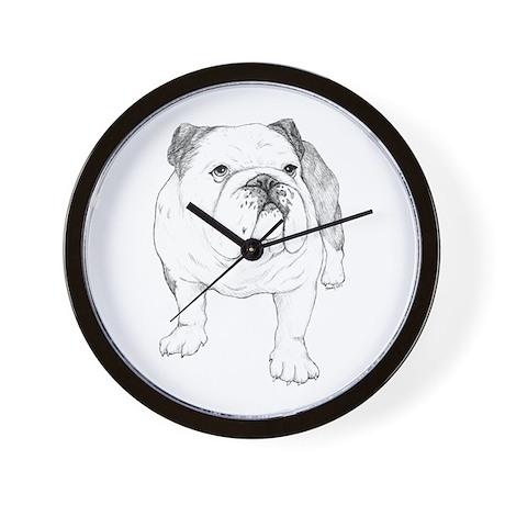 Bulldog Drawing Wall Clock by AlabamaGulfCoast