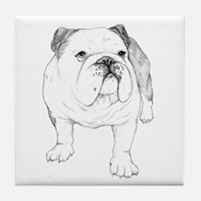 Bulldog Drawing Tile Coaster