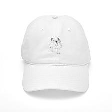 Bulldog Drawing Baseball Cap
