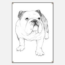 Bulldog Drawing Banner