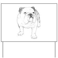Bulldog Drawing Yard Sign