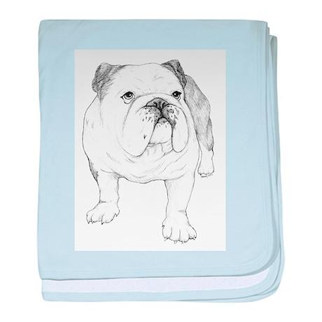 Bulldog Drawing baby blanket