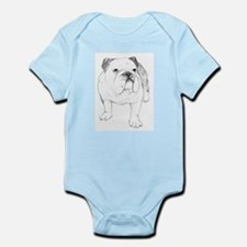 Bulldog Drawing Infant Bodysuit