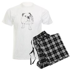 Bulldog Drawing Pajamas