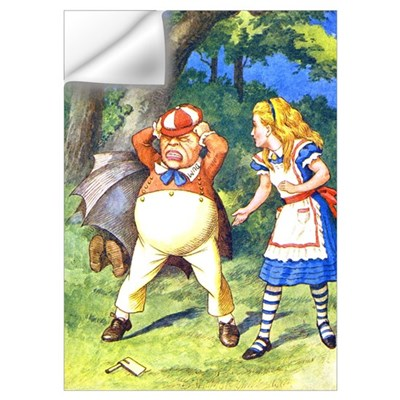 ALICE & TWEEDLE DUM Wall Decal