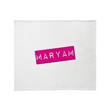 Maryam Punchtape Throw Blanket