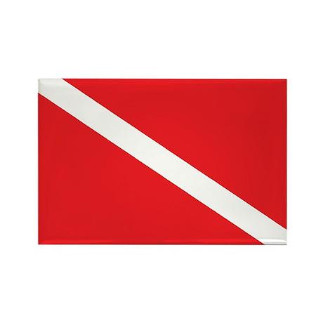 SCUBA DIVE FLAG Rectangle Magnet (100 pack)