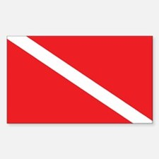 SCUBA DIVE FLAG Rectangle Decal