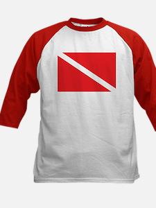 SCUBA DIVE FLAG Kids Baseball Jersey