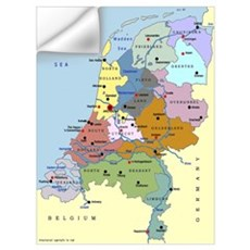 The Netherlands Map Wall Decal