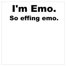 So Effing Emo Framed Print
