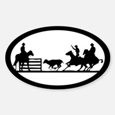 Team Penning Oval Decal