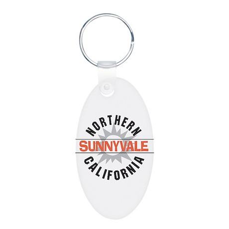 Sunnyvale California Aluminum Oval Keychain
