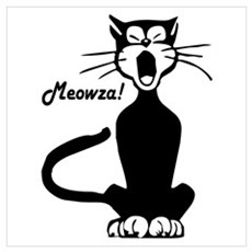 Meowza! 1950's Cartoon Cat Poster