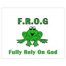F.R.O.G. - Fully Rely on God Canvas Art