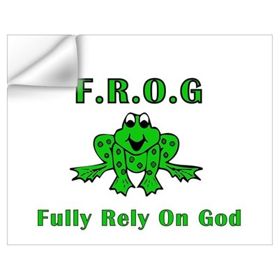 F.R.O.G. - Fully Rely on God Wall Decal